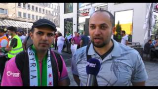 سوريون يتظاهرون احتجاجا على قمة العشرين في هامبورغ