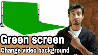 How to Buy Green Screen and Setup   video background change  