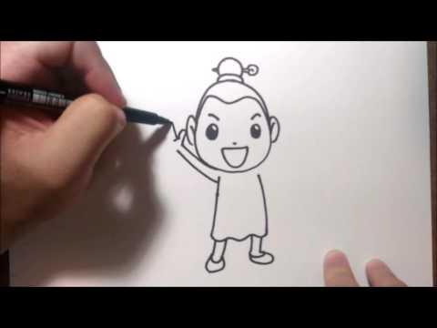 สุดสาคร แบบง่ายๆ จาก พระอภัยมณี  สอนวาดรูป วาดการ์ตูน กันเถอะ