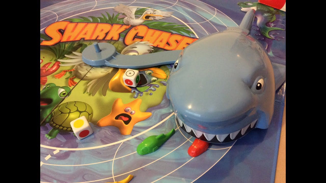 Shark Toys And Games : Shark chase game by hasbro don t let the eat your