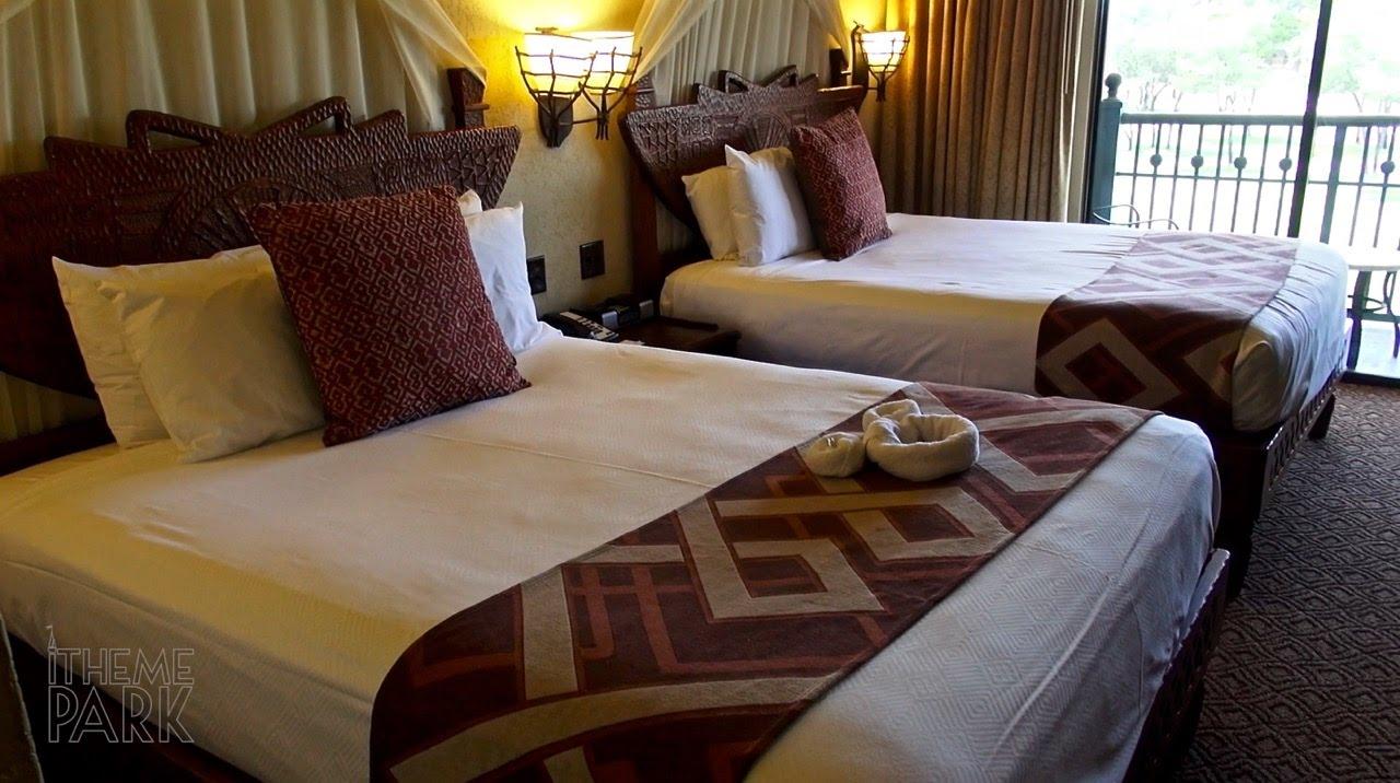 Disney's Animal Kingdom Lodge Standard Room Tour Savanna