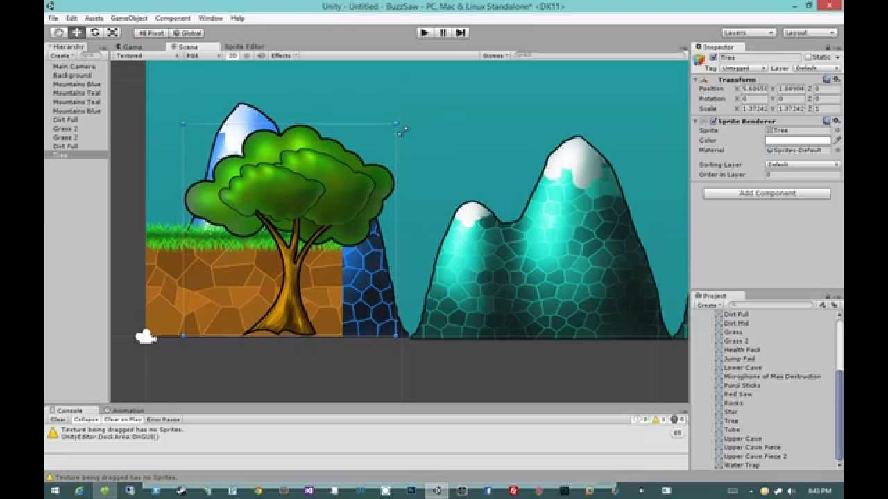 Creating 2d Games In Unity 4 5 2 Intro To 2d Youtube