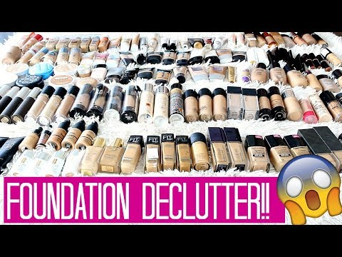 HUGE Foundation Declutter/Foundation Collection! 150 Foundations!