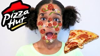 Shasha PIZZA FACE! - PIZZA CHALLENGE! - Shiloh and Shasha Onyx Kids