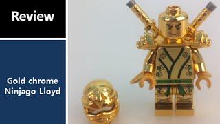 Custom LEGO Lloyd gold chrome ninjago review (레고 커스텀 골드 크롬 닌자고, カスタム 忍者 ゴールド lego )