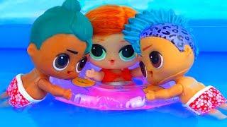 Скейти В ШОКЕ! Панки и Луау стали друзьями! Мультик куклы лол сюрприз LOL dolls