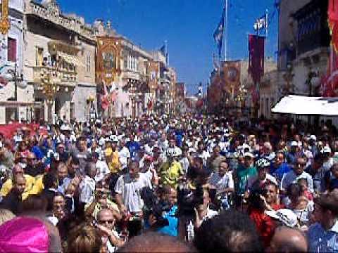 Zabbar Festa tal Madonna tal Grazzja Pellegrinaġġ Muturi u Roti bis sehem tal Arċisqof Pawlu Cremona l Ħadd 11 ta' Settembru 2011  malcolm schembri zabbar malta part 1