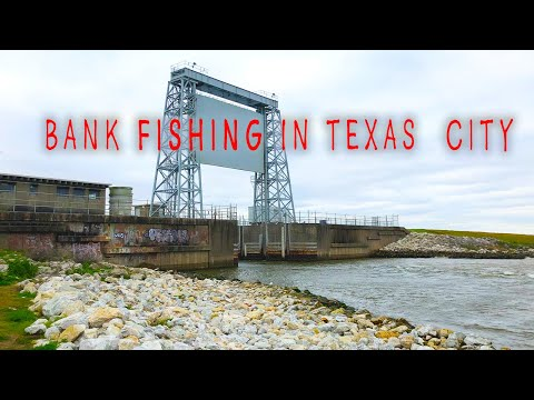 2 EASY BANK FISHING SPOTS In Texas City TX‼️ MAPS & COORDINATES PROVIDED