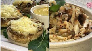 Два рецепта нежных кальмаров с грибами Постные рецепты