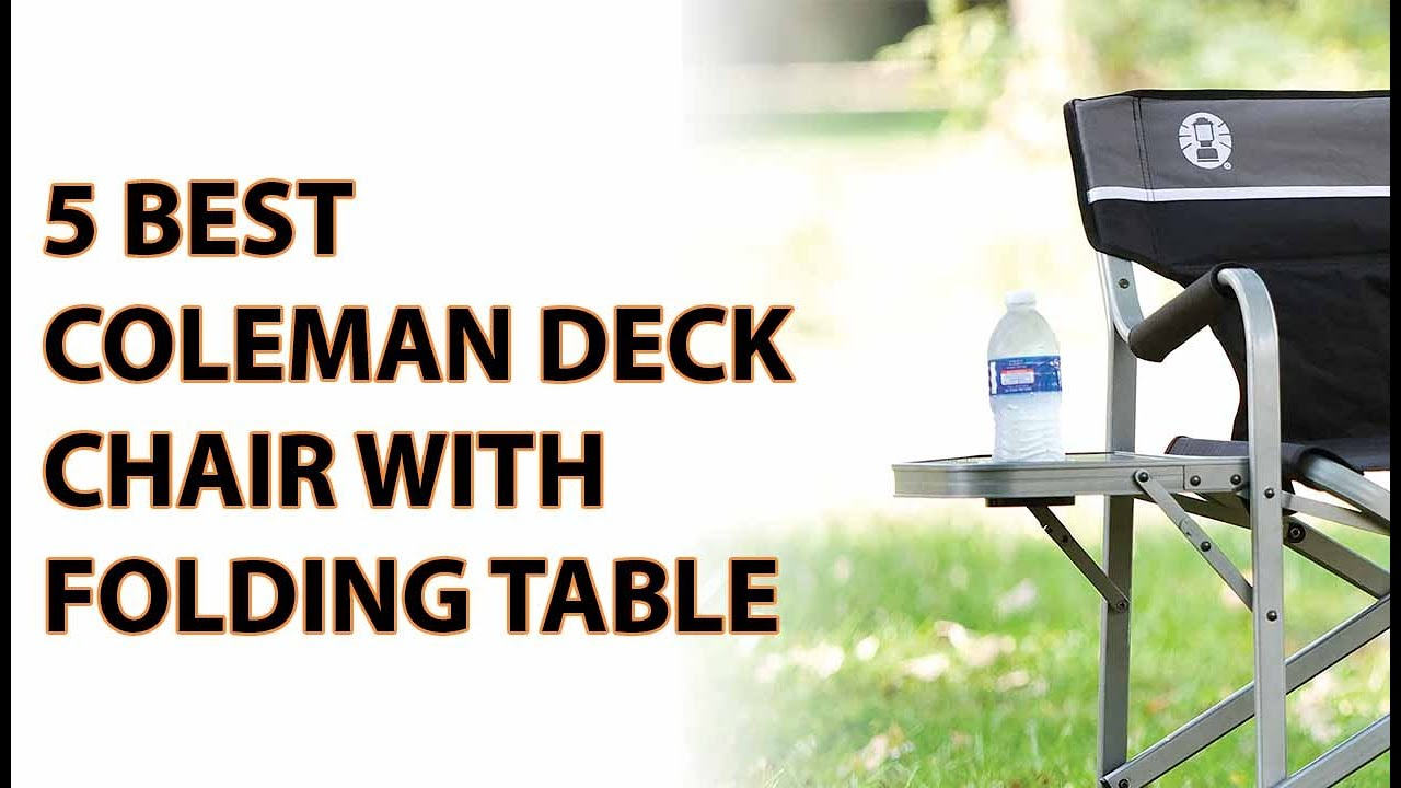 coleman deck chair with table stool green 5 best 2017 youtube