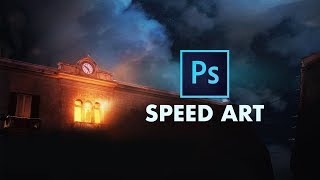 Below the Clouds - Photoshop Matte Painting Speed Art