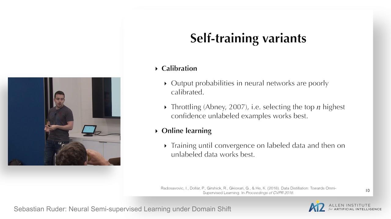 Sebastian Ruder: Neural Semi-supervised Learning under Domain Shift