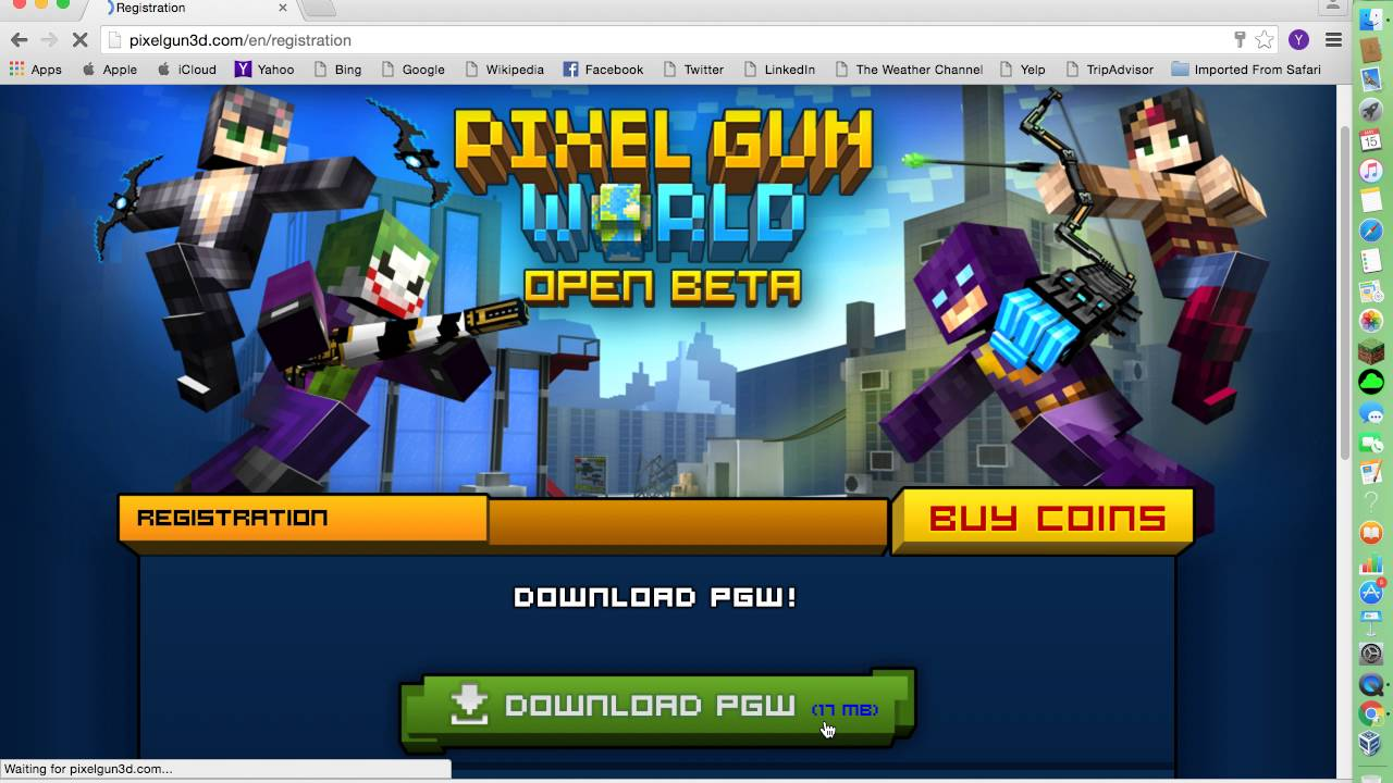 How to get pixel gun world on mac youtube.