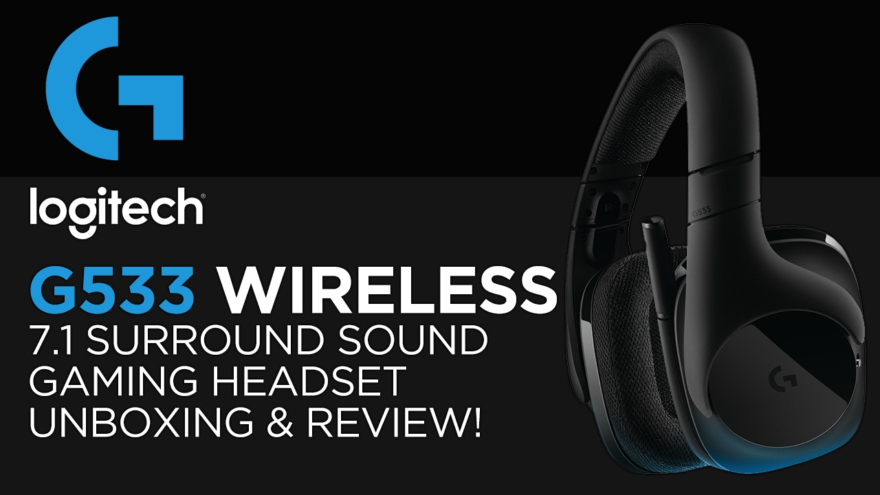 Logitech G533 Wireless 7 1 Surround Sound Gaming Headset Unboxing, Review &  Microphone Test!