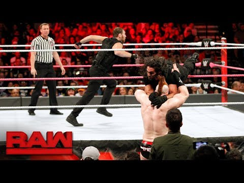 Thumbnail: Seth Rollins & Dean Ambrose vs. Cesaro & Sheamus - Raw Tag Team Titles Match: Raw, Oct. 16, 2017