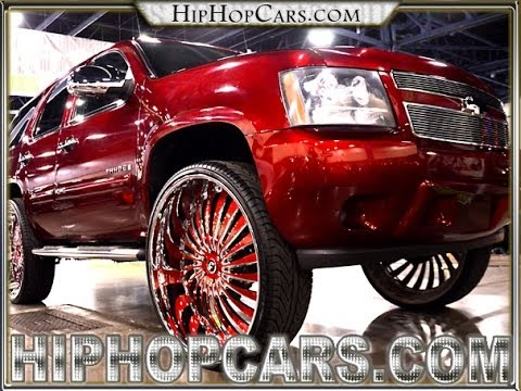 Candy Red Tahoe On 32 Quot Autonomo Forgiatos Chevy Tahoe 32