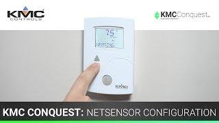 KMC Conquest: NetSensor Configuration