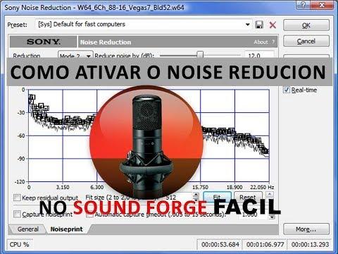 Como Ativar O Noise Reduction No Sond Forge Facil