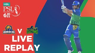 LIVE REPLAY – Multan Sultans vs Karachi Kings | 1st Innings | Match 16 | HBL PSL 6