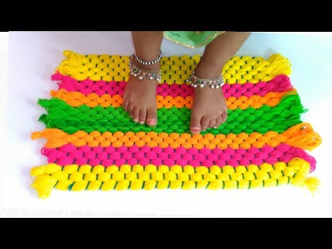 How to make Rug,Table mat, Carpet, Door mat using Woolen