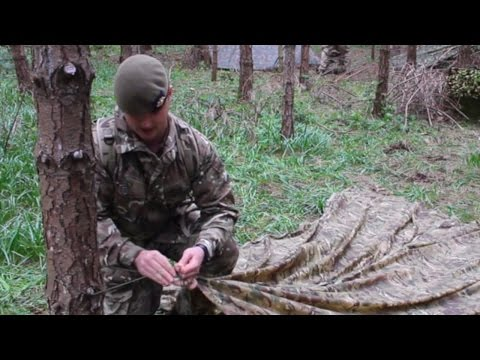 How to erect a basha in three minutes | British Army