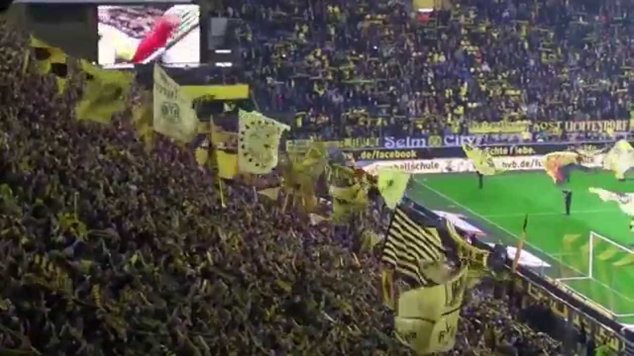 Stimmung Südtribüne: Borussia Dortmund - Hannover 96 (Saison 2014/15)