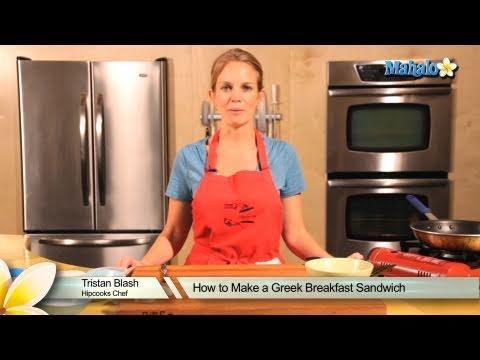 How to Make a Greek Breakfast Sandwich