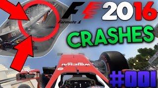 f1 2016   crash compilation   1   hd