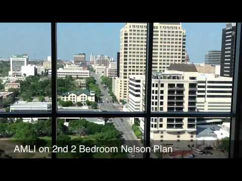 Downtown Austin Apartment For Lease AMLI On 2nd 2 Bedroom Nelson Plan