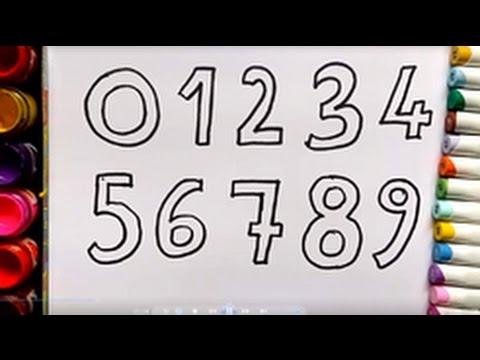 Como Dibujar y Colorear Los Números - Aprende Los Números y Colores ...