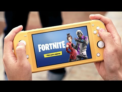 Fortnite Game Play On Nintendo Switch Lite