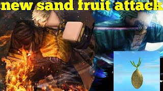new sand fruit attack- One Piece legendary-Roblox