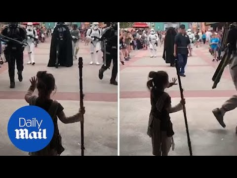 Star Wars fan uses the Force to fend of villains and hugs Chewy