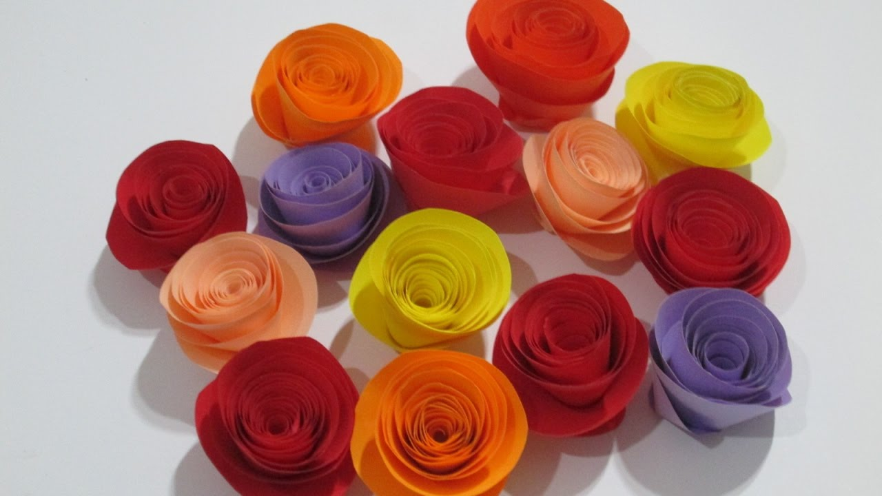 How To Make Rolled Paper Roses Quick Easy Tutorial At Home Youtube