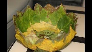 как сделать вазу из листьев клена своими руками