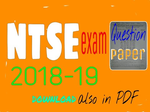Ntse Sample Paper Pdf