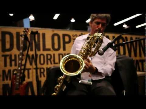 Live From NAMM 2013: Baritone Sax + Dunlop Effect Pedals