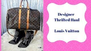 Designer Thrift Haul handbags & Jewelry ...Louis vuitton & Bling!