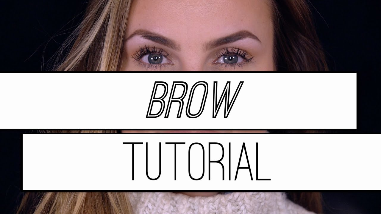 How To Thread Your Own Eyebrows Fill In Your Brows Tutorial Easy