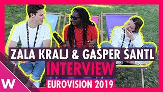 Zala Kralj & Gašper Šantl (Slovenia) interview @ Eurovision 2019 second rehearsal
