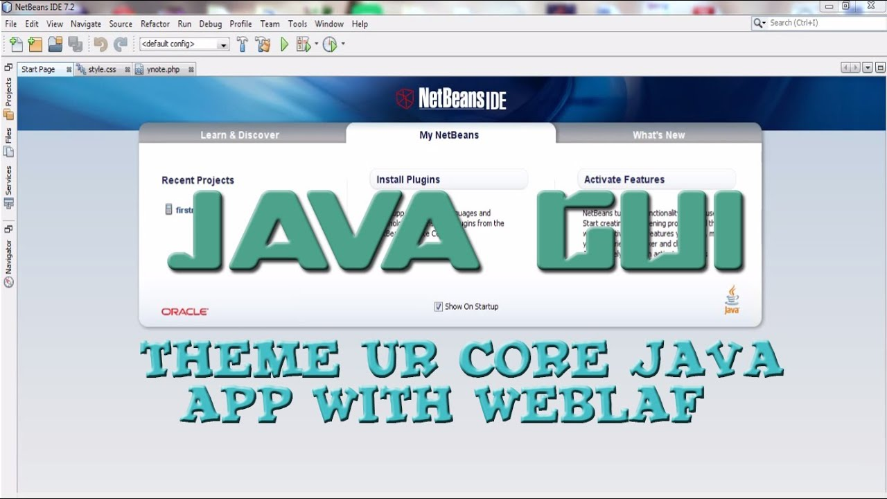 Java GUI : Theme your core java application | Change the look and feel of  java application