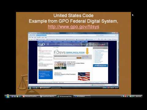 Legal Resources: Statutes and Regulations