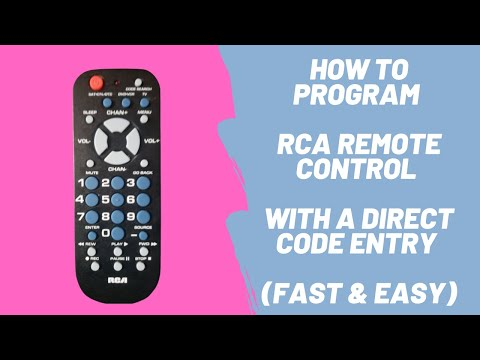 How To Program RCA Remote Control To TV With A Direct Code Entry (Fast & Easy)