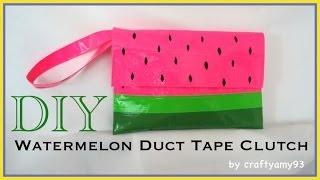 DIY Watermelon Duct Tape Clutch (no sew)
