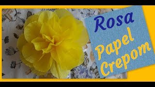 DIY FLOR DE PAPEL CREPOM (ROSAS)