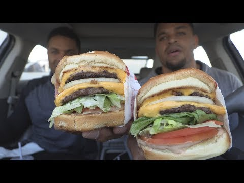Eating In-N-Out Burger  @hodgetwins