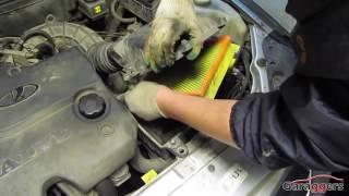 Замена воздушного фильтра на автомобиле Лада Приора