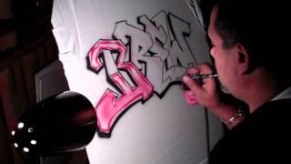 "Bat Mitzvah Graffiti ""Brew"" by Art Spot Airbrush and Entertainment"