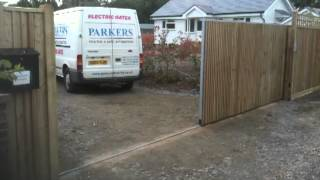 Wooden Sliding Electric Gate Part 2