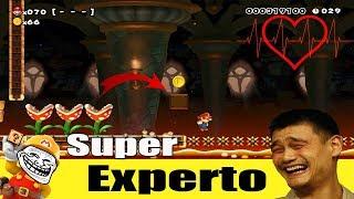 Un maldito speed run Troll JAPONES!!! - Super Mario Maker (Super experto NO skip) #19